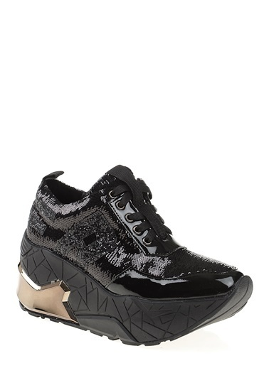 Bambi Platform Topuklu Ayakkabı Siyah